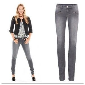 Cabi Graphite Gray Zip Skinny Jeans